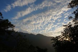 景區落日雲彩